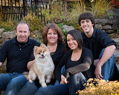 Pet photography with family