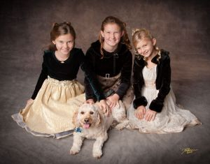 Children's studio portrait in Webster NY